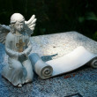 Angel on the grave. — Stock Photo
