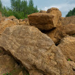 Stock Photo: Crushed stone and boulders.