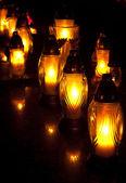 Gele kaarsen — Stockfoto