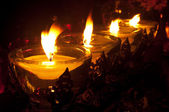 Candles in the cemetery. — 图库照片