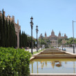 Cathedral Montjuic — Stock Photo