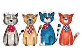 Cuatro gatos — Foto de Stock