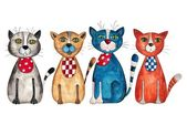 Four cats — Stock Photo