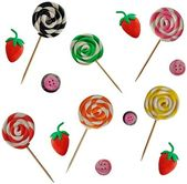 Lolly pop background — Stock Photo