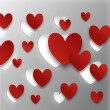 Stock Photo: Valentine Day Hearts background