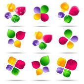 Set of Abstract icon design — Stock Photo