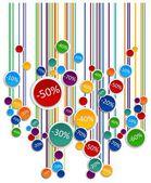 Discounts 3d board — Stock Photo