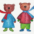 Teddy bears — Stock Photo #34120323