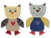 Owls. Cartoon characters — Stock Photo