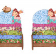 Foto Stock: Princess and Pea