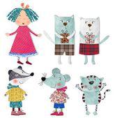 Set cartoon characters — Stock Photo
