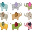 Elephants. Digital quilt pattern — Stock Photo