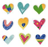 Decorative elements. Hearts — Stock Photo