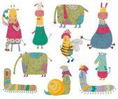 Cartoon characters — Stock Photo