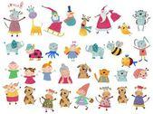 Cartoon characters set — Stockfoto