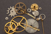 Old parts of hand clock — Stock Photo