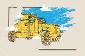 Gepantserde militaire voertuigen — Stockvector