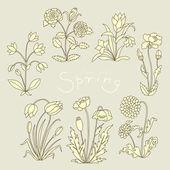 Conjunto de flores — Vetorial Stock