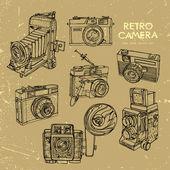 Vintage cameras — Stock Vector