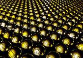 Metallic yellow shapes — Stock Photo