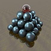 Pirámide de esfera — Foto de Stock