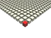 Be different red cube — Stock Photo