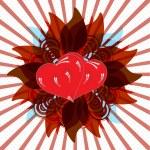 Shining Valentine hearts — Stock Photo #8285843