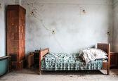 Abandoned bedroom — Stock Photo