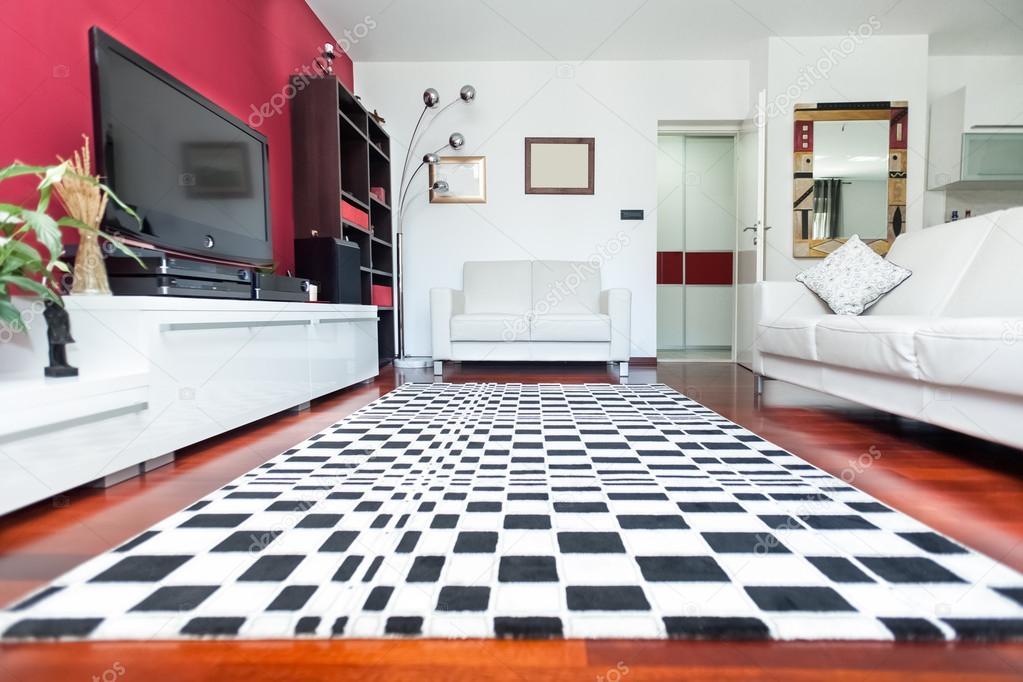Sala De Estar Com Piso Xadrez ~ Moderna sala de estar — Fotografias de Stock © paulprescott