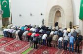 Afternoon prayer in mosque — Stock Photo