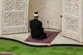 Imam praying in Mosque — Stock Photo