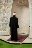Imam praying in Mosque — Stock Photo