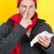 Man picking nose — Stock Photo