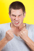 Infuriated man — Stock Photo