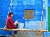 Man painting — Stock Photo
