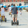 On Segways on the waterfront in Split — Stock Photo