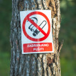 Stock Photo: It is forbidden to smoke a sign