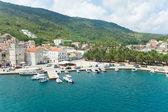 Komiza, a city on the island Vis in Croatia in the Adriatic sea — Stock Photo