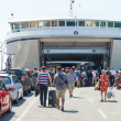 Boarding the ferry — Stock Photo