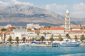 Ships in the port of Split. — Foto de Stock