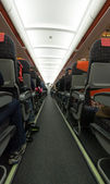 Airplane aisle — Stockfoto