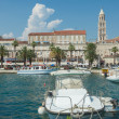 Ships in Split harbor — Stock Photo