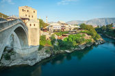 Old Mostar bridge over the Neretva river — Stock Photo