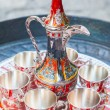 Old Turkish coffee service — Stock Photo