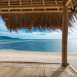 Seaview from bamboo hut — Stock Photo