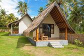 Houses on island — Stock Photo