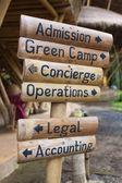 Zelená škola — Stock fotografie