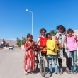 Stock Photo: Kids on the stree