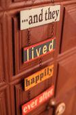 Signo de puerta de felicidad — Foto de Stock