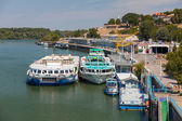 Danube dock — Stock Photo